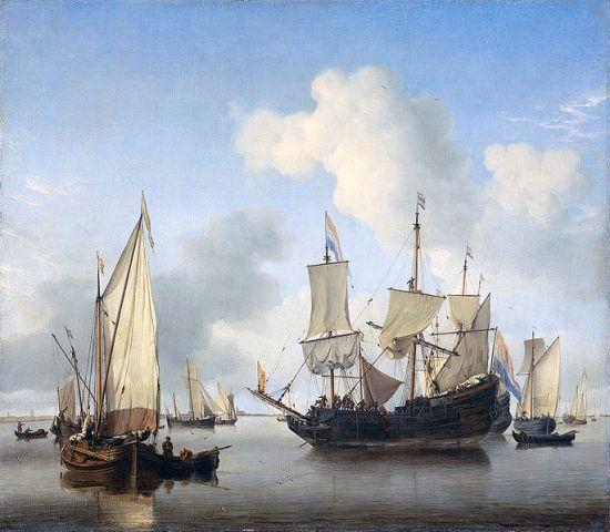 685px-Schepen_onder_de_kust_voor_anker_(Willem_van_de_Velde_II)