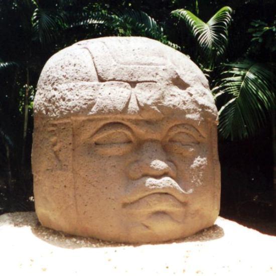 głowa Olmekow La Venta